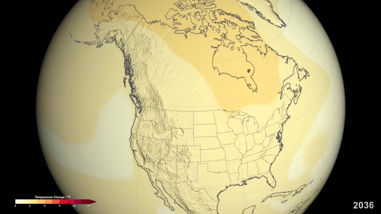 NASA: Projected U.S. Temperature Changes by 2100