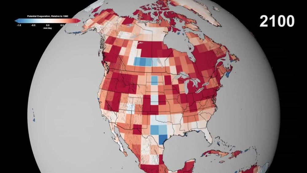 NASA: Potential Evaporation in North America Through 2100 (August 2013 in HD)