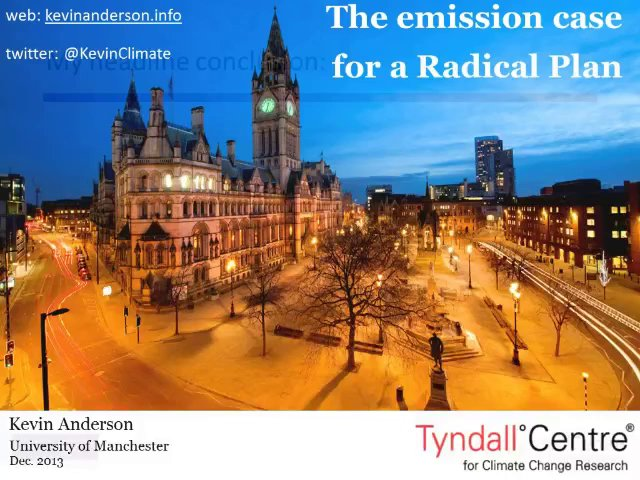 Radical Emissions Planning: Kevin Anderson