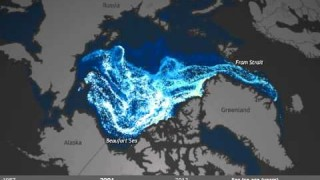 Amount of Old Sea Ice in Arctic 1987-2013