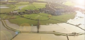 Flooding And Erosion Damage Across The UK - Aerial Footage