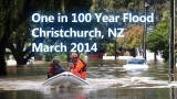 Christchurch, NZ – One in 100 Year Flood – Aerial Footage 2014