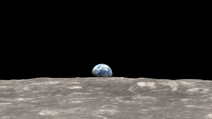 Earth from Space, the Pale Blue Dot
