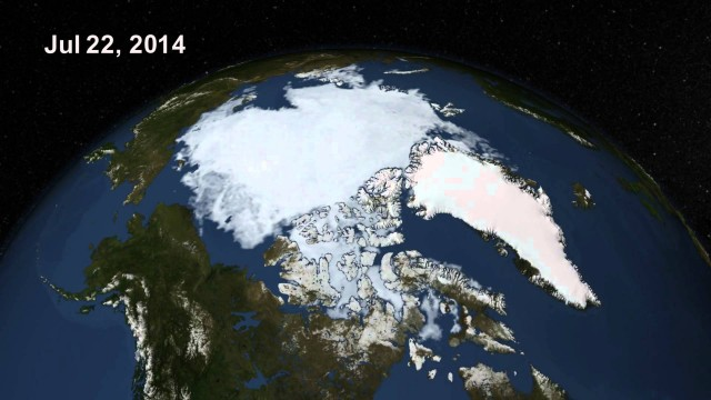 Arctic Sea Ice, Summer 2014 (NASA animation)