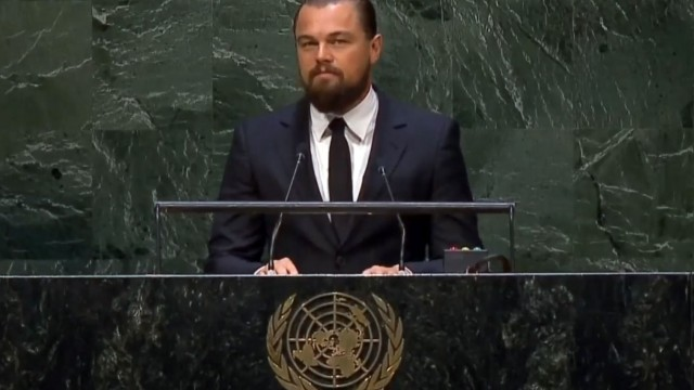 Leonardo DiCaprio warns UN about Global Warming