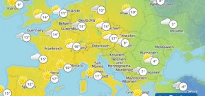 Exceptionally mild temperatures in large parts of Europe and stormy UK weather with 100mph winds