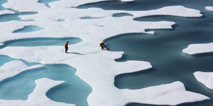 Will a 2015 Arctic sea ice melt season during an El Nino year shatter previous records?