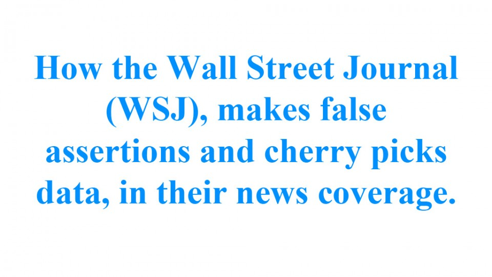 How the Wall Street Journal cherry picks science data