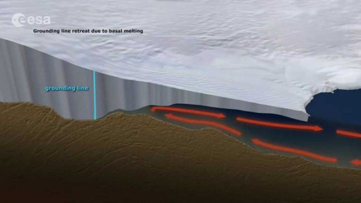 Sudden ice loss acceleration at the Southern Antarctic Peninsula detected
