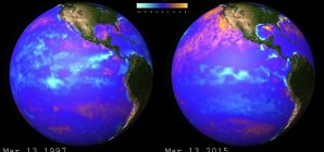 1997 and 2015 El Niño Sea Surface Temperature Anomalies (Video)