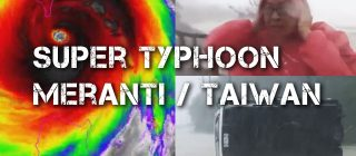 Incredible footage of the strongest Typhoon Meranti in 2016