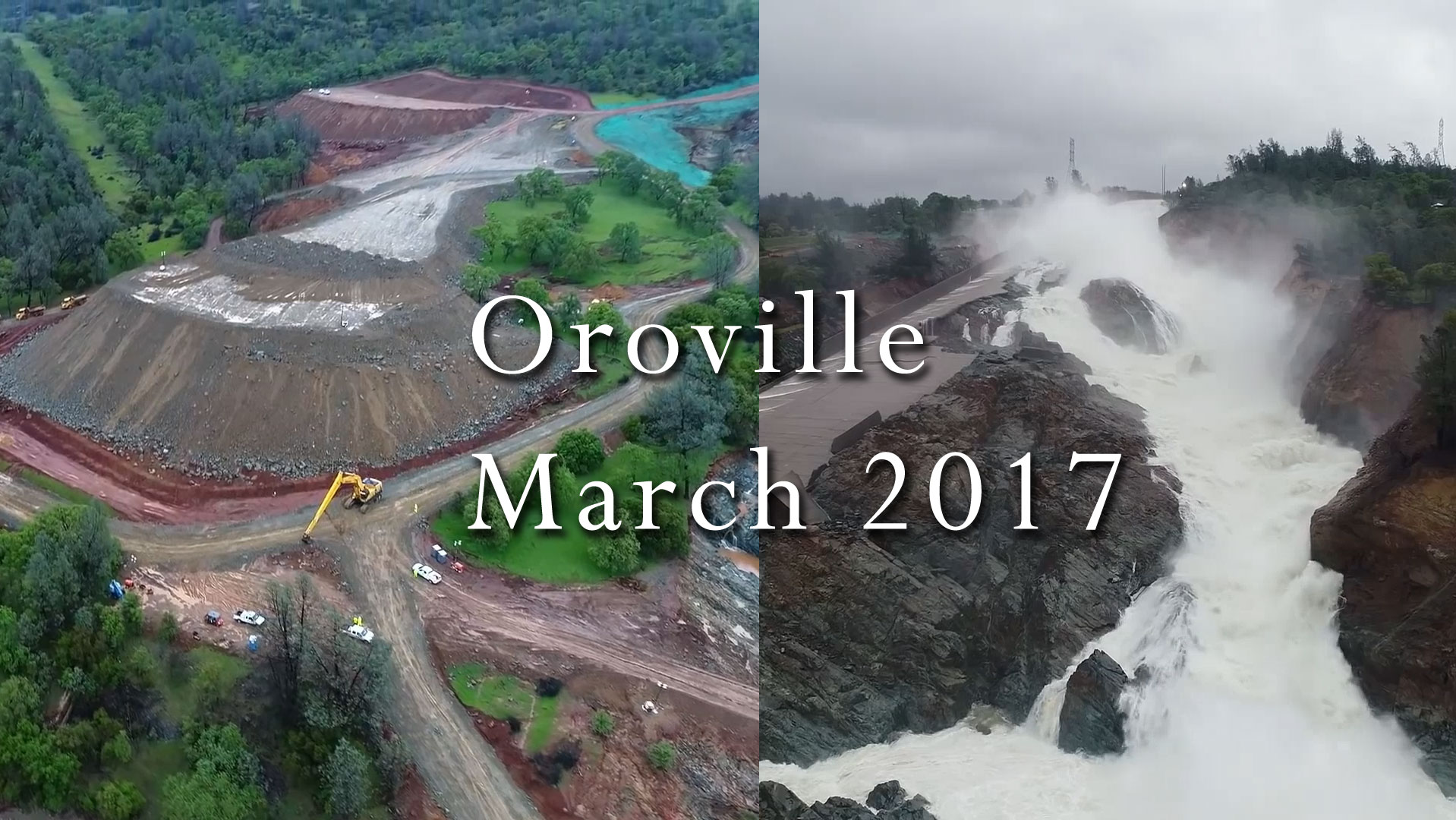 Oroville Dam Repairs (March 12-23) Footage Compilation – Climate State
